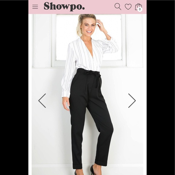 6e9f93295c0  ShowPo  BNWT Tie waist pants   Slacks U.K 10 US 6